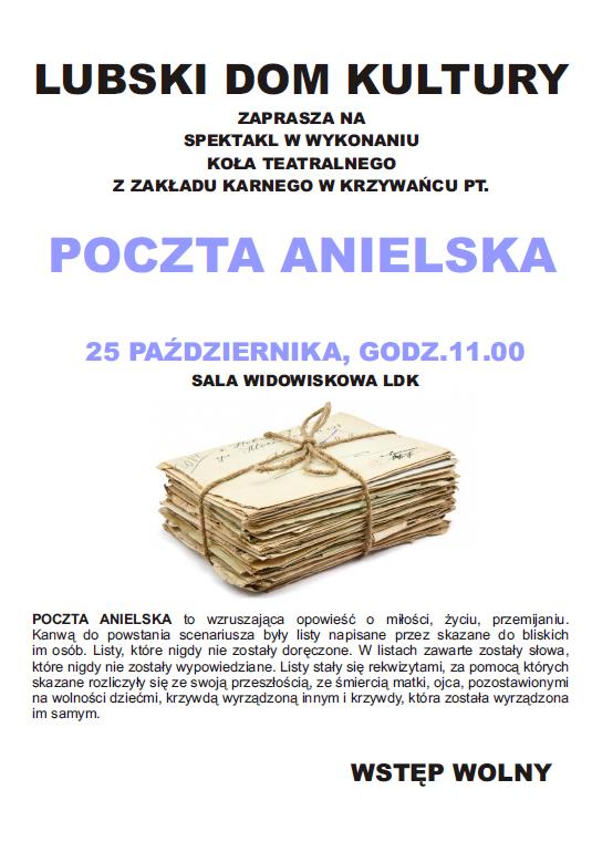 Ilustracja do informacji: Spektakl POCZTA ANIELSKA