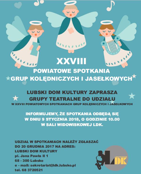 Ilustracja do informacji: XXVIII Powiatowe Spotkania Grup Kolędniczych i Jasełkowych