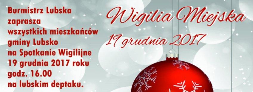 Ilustracja do informacji: Wigilia - Lubsko 2017