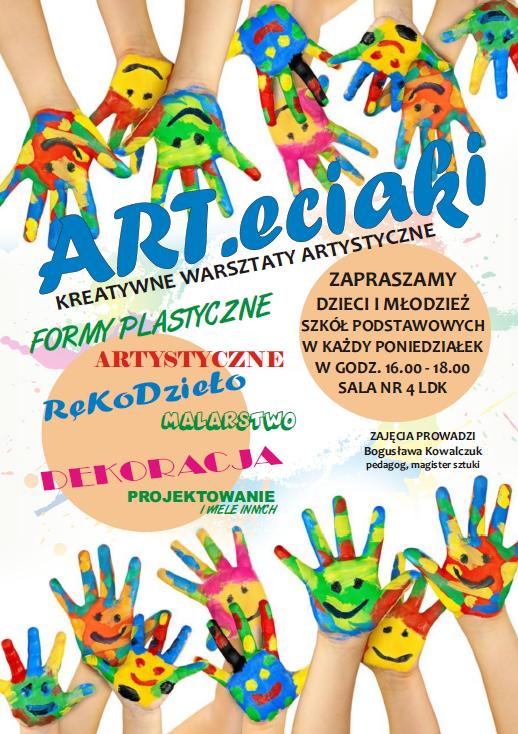 Ilustracja do informacji: ART.eciaki - kreatywne warsztaty artystyczne
