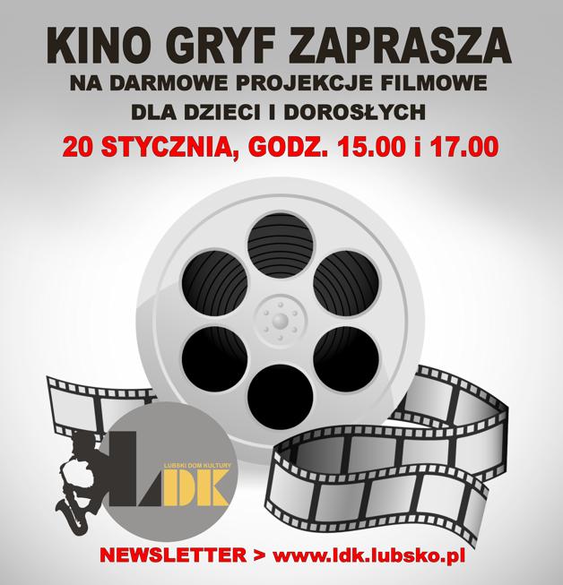 Ilustracja do informacji: Kino Gryf zaprasza