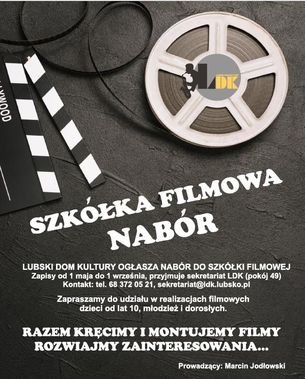 Ilustracja do informacji: Szkółka filmowa - NABÓR !