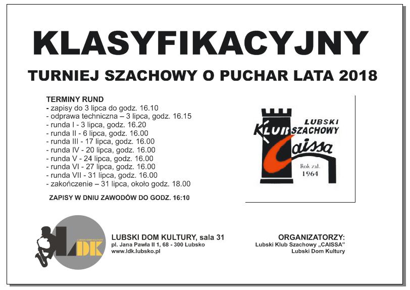 Ilustracja do informacji: Klasyfikacyjny Turniej o Puchar Lata 2018