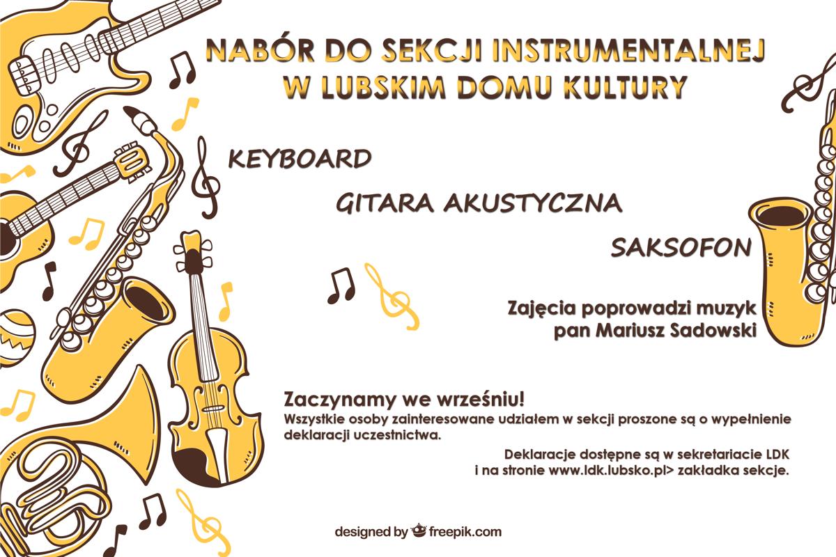 Ilustracja do informacji: Nabór do sekcji instrumentalnej