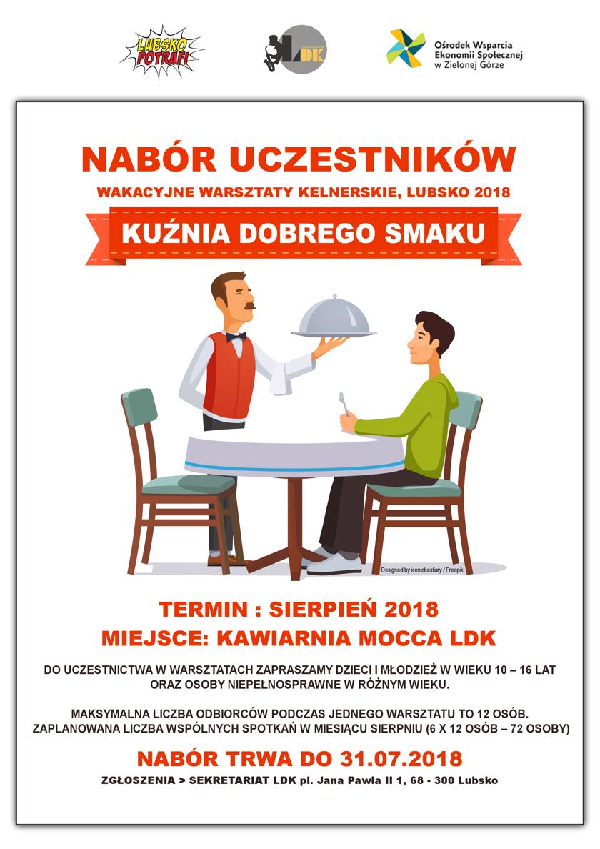 Ilustracja do informacji: NABÓR - warsztaty kelnerskie