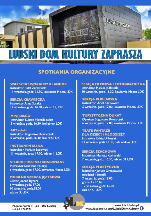 Ilustracja do informacji: Spotkania organizacyjne LDK