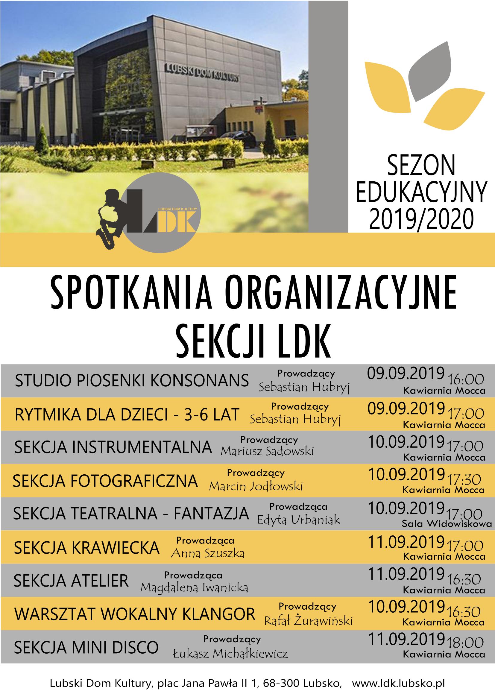 Ilustracja do informacji: Spotkania Organizacyjne sekcji LDK