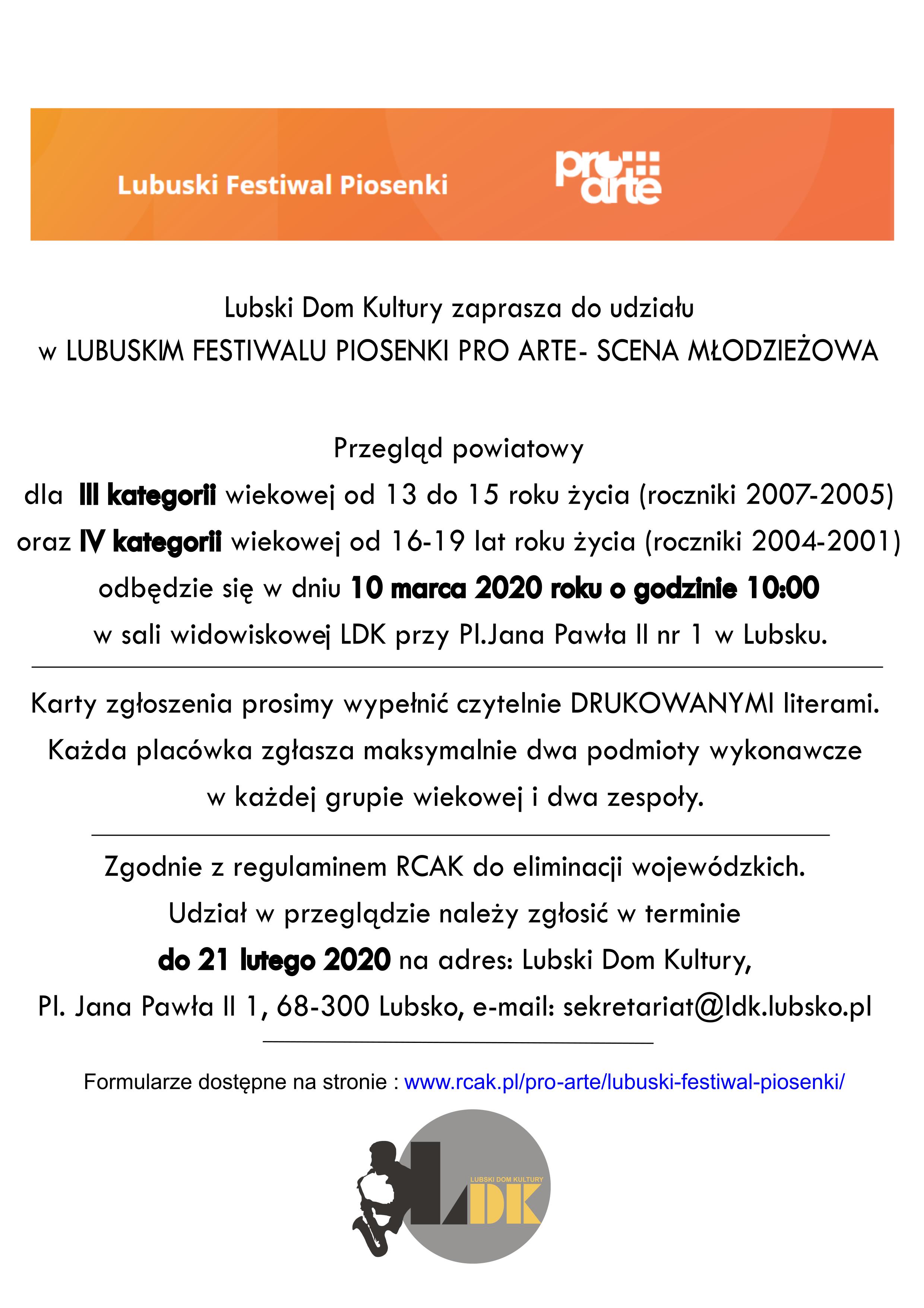 Ilustracja do informacji: Lubuski Festiwal Piosenki - przegląd powiatowy