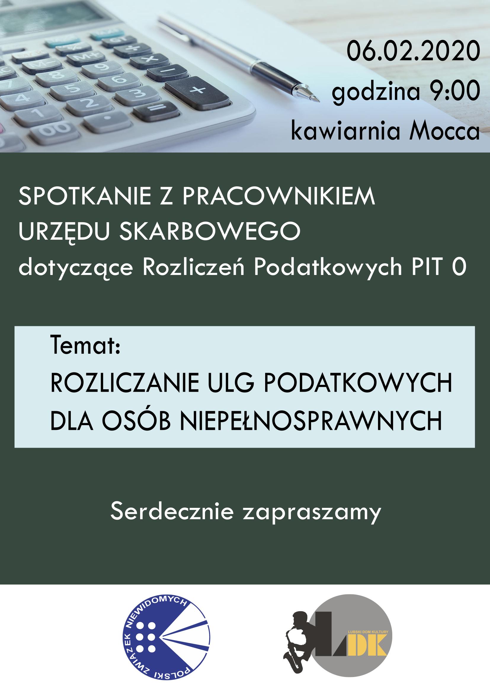 Ilustracja do informacji: Spotkanie z Pracownikiem Urzędu Skarbowego