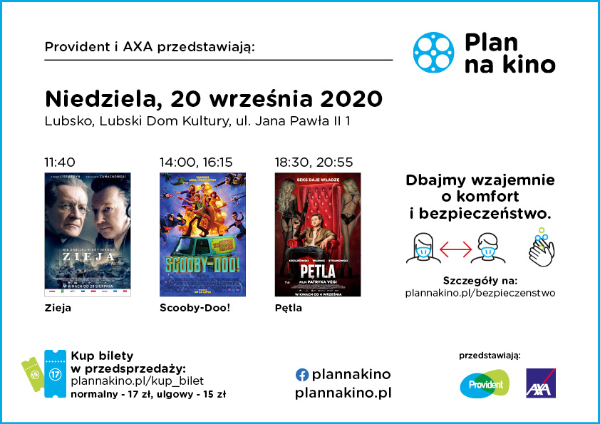 Ilustracja do informacji: Plan na Kino 20 września 2020