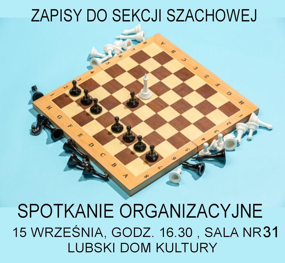 Ilustracja do informacji: Spotkanie organizacyjne - sekcja szachowa