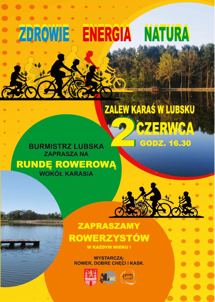 Ilustracja do informacji: Runda rowerowa wokół zalewu Karaś w Lubsku